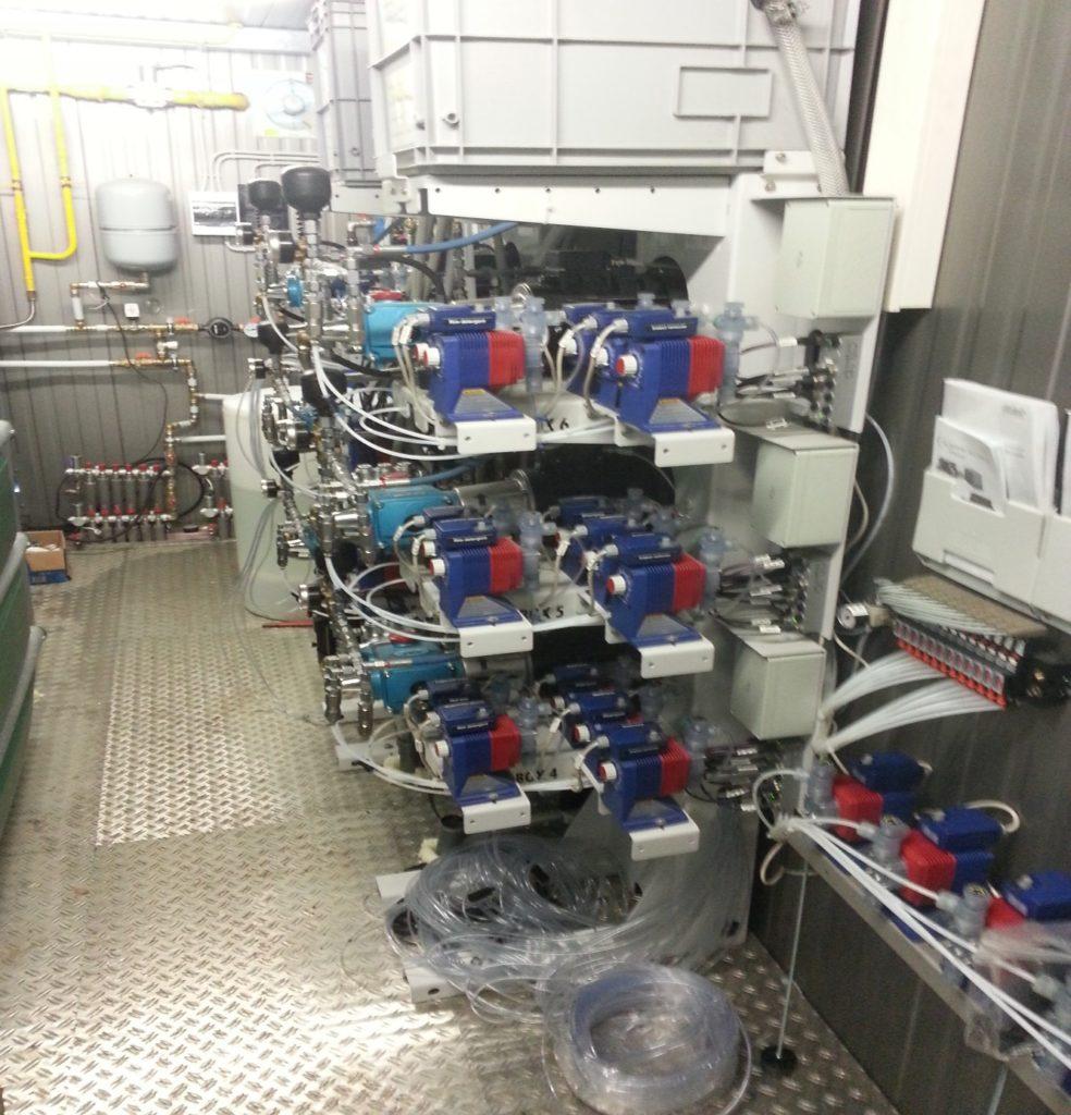 Технический контейнер и система дозирования