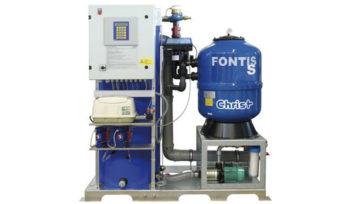 Теперь базовая модель системы рециркуляции воды FONTIS-5 оснащается электронным счетчиком для контроля поступления свежей воды.