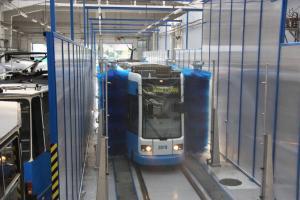 Мойка трамваев и поездов 2